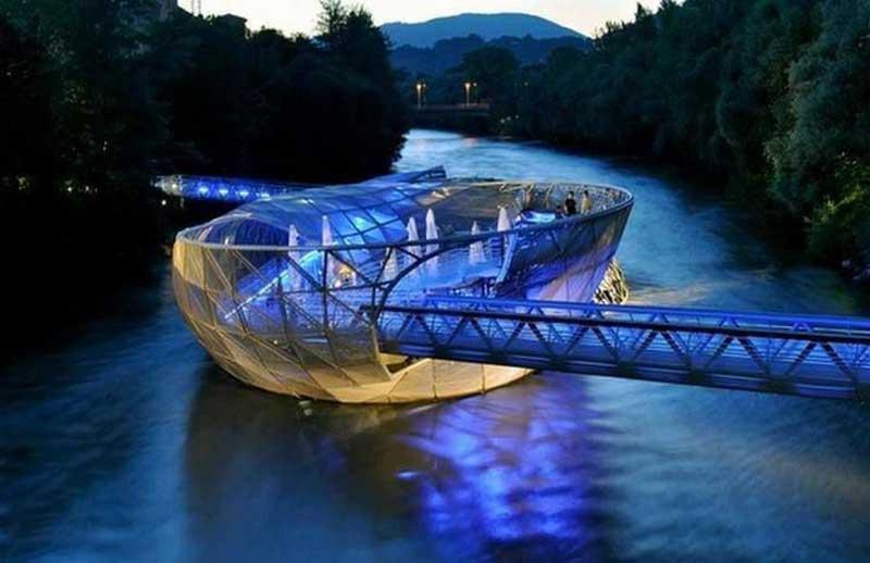 پل جزیره آیولا، اتریش