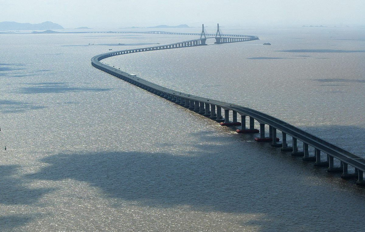 پل خلیج هانگژو، چین